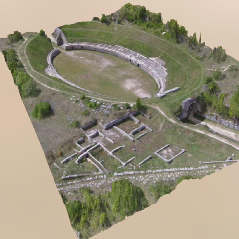 Anfiteatro di Alba Fucens in 3D