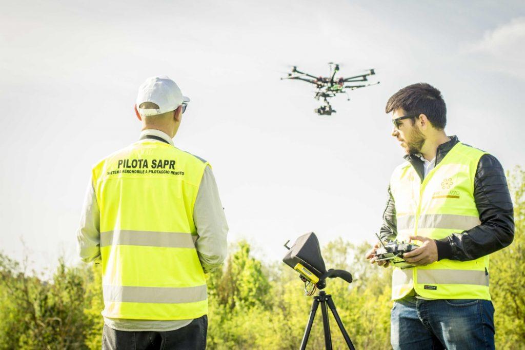 Avviare un lavoro con i droni